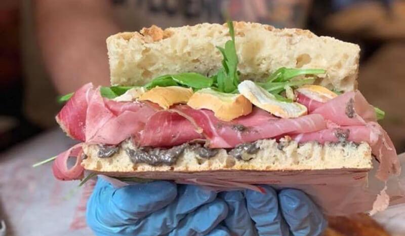Sanduíche do Restaurante All'Antico Vinaio em Florença