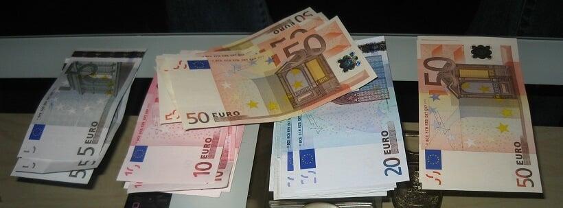 Troca de Euros na Casa de Câmbio