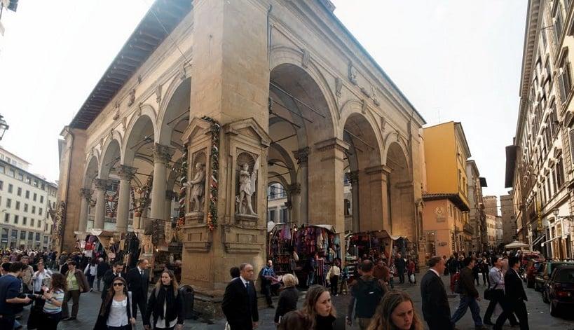 Via Calimala para compras em Florença