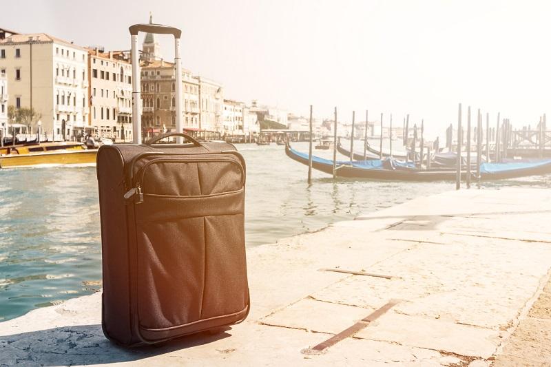 Bagagem no Porto de Veneza