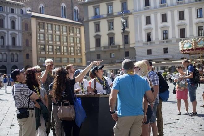 Tour caminhada atrações topo Florença