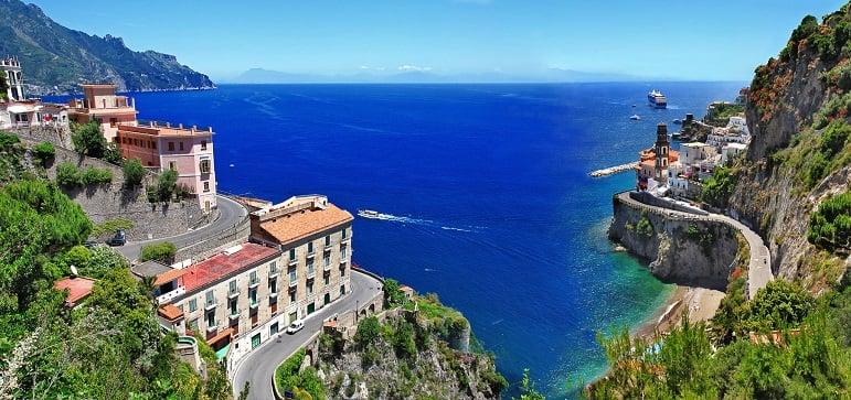 Principais cidades da Costa Amalfitana