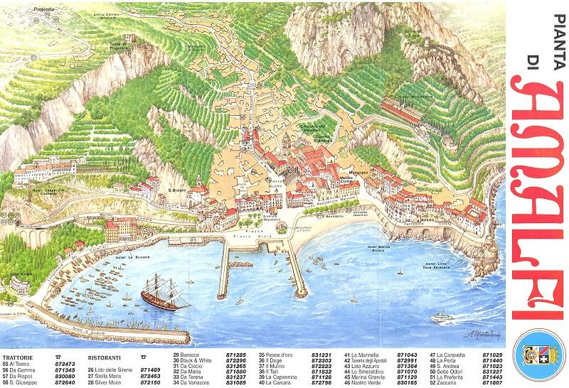 Mapa de Amalfi