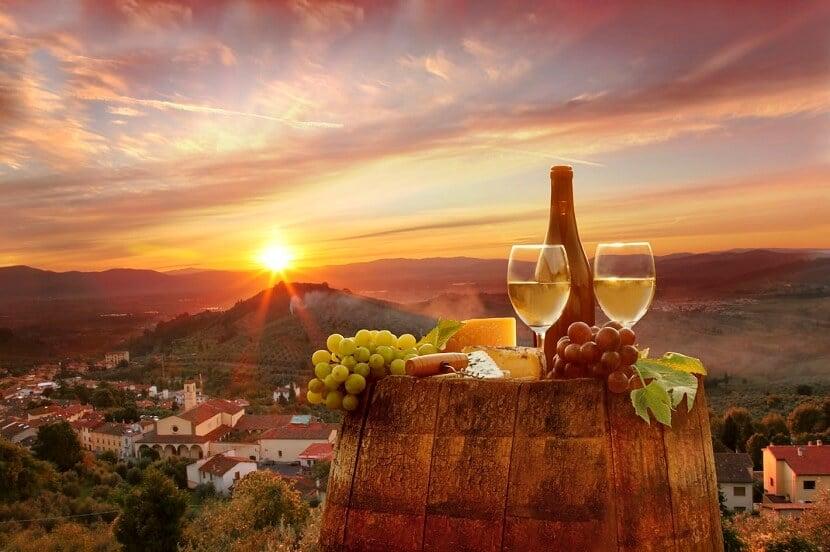 Tradicionais degustações de vinho na Itália