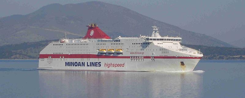 Embarcação da Minoan Lines
